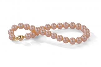 Peach Freshwater Pearl Bracelet 6.00 - 6.50mm