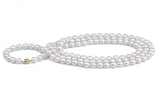 White Baroque Akoya Pearl Necklace 50inch 8.50 - 9.00mm