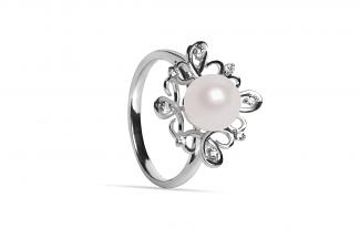 White Freshwater Lyra Pearl Ring 7.50 - 8.00mm