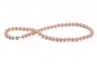 Peach Freshwater Pearl Necklace 7.00 - 7.50mm