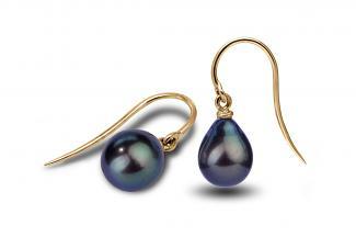 Black Freshwater Freedom Pearl Earrings 9.00-9.50mm