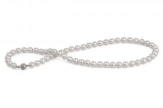White Akoya Pearl Necklace 7.00 - 7.50mm