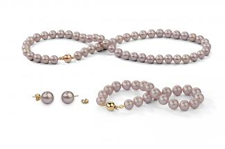 Lavender Freshwater Classic Pearl Set 8.00 - 8.50mm