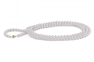White Freshwater Pearl Necklace 50 inch 8.00 - 8.50mm