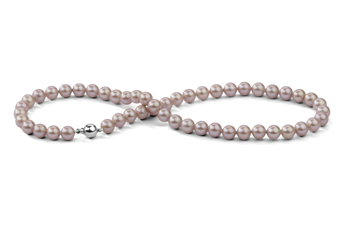 Lavender Freshwater Pearl Necklace 9.00 - 9.50mm