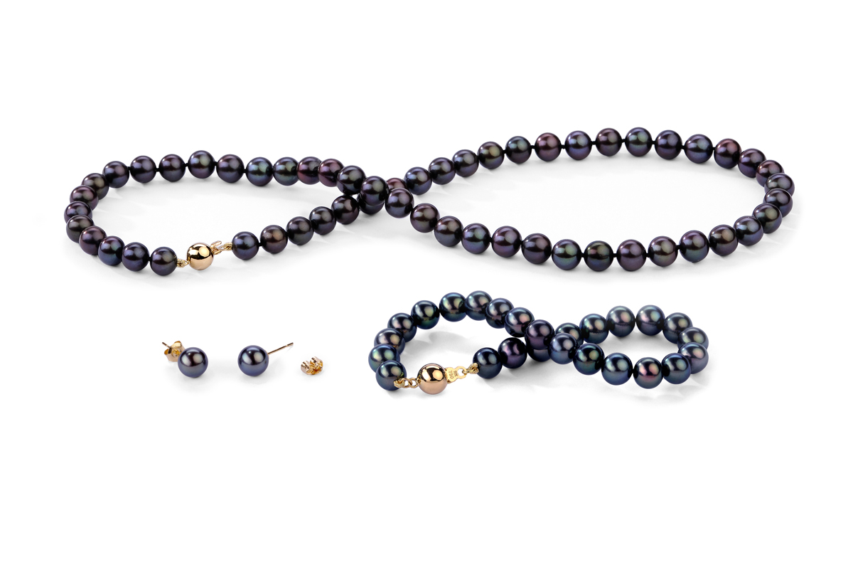 Black Freshwater Classic Pearl Set 6.00 - 6.50mm