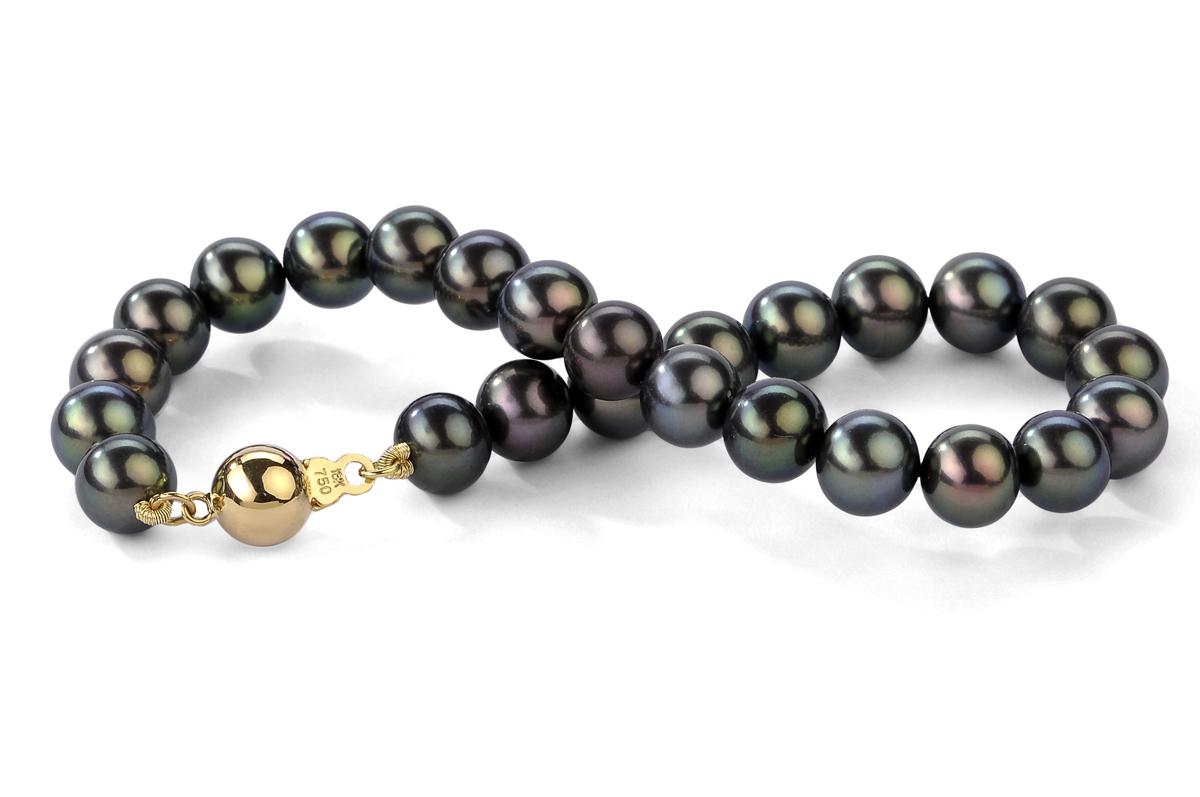 Black Freshwater Pearl Bracelet 9.00 - 9.50mm