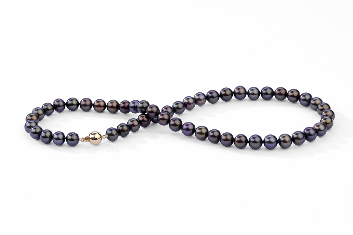 Black Freshwater Pearl Necklace 10.00 - 10.50mm