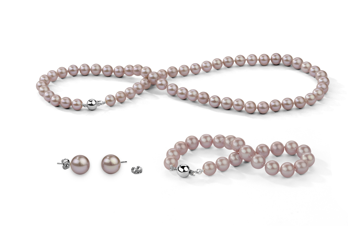 Lavender Freshwater Classic Pearl Set 7.00 - 7.50mm