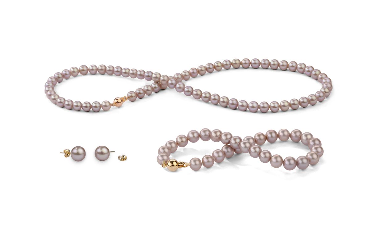 Lavender Freshwater Classic Pearl Set 6.00 - 6.50mm