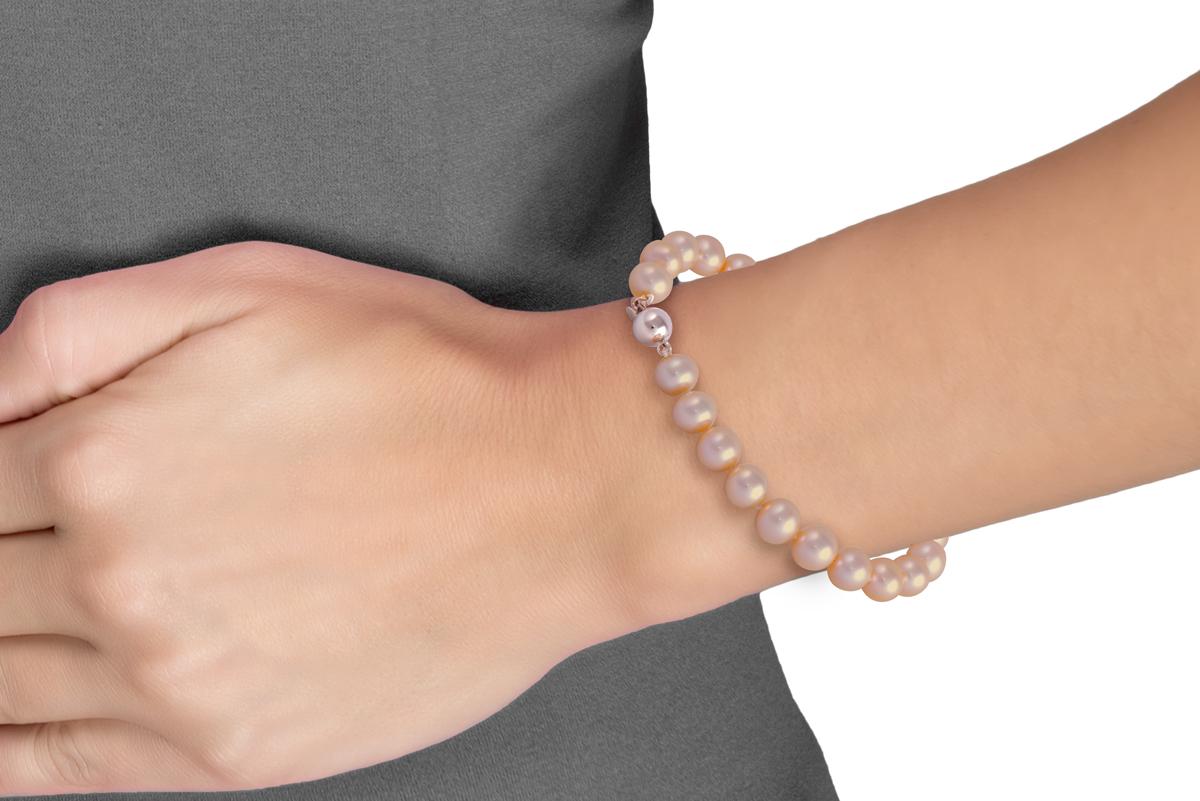 Peach Freshwater Pearl Bracelet