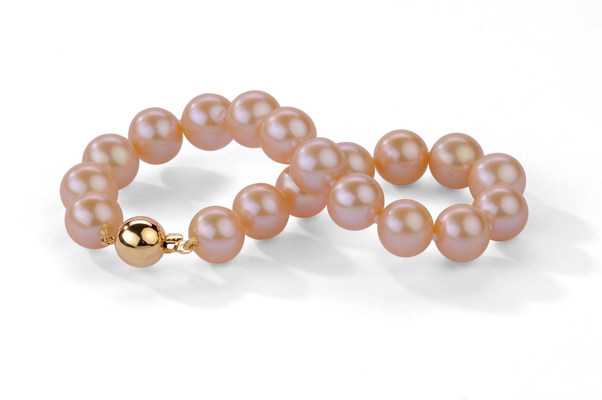 Peach Freshwater Pearl Bracelet 10.00 - 10.50mm