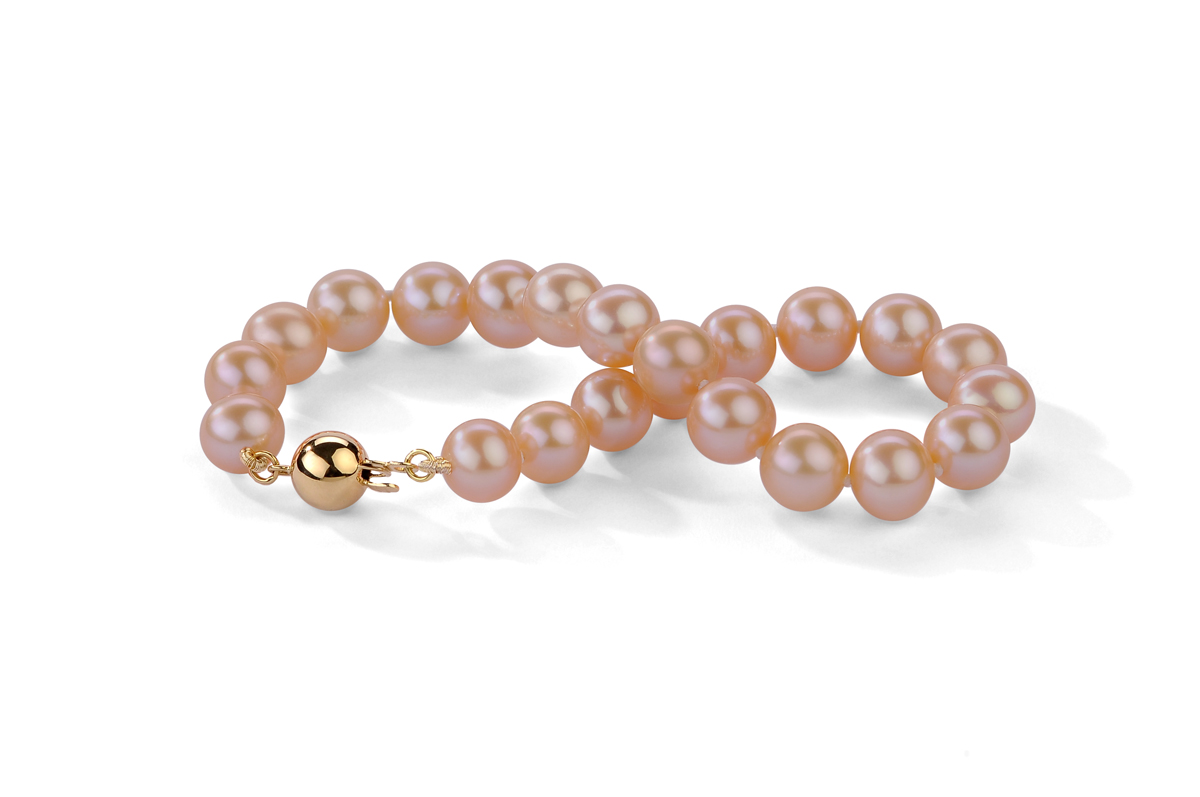 Peach Freshwater Pearl Bracelet 7.00 - 7.50mm