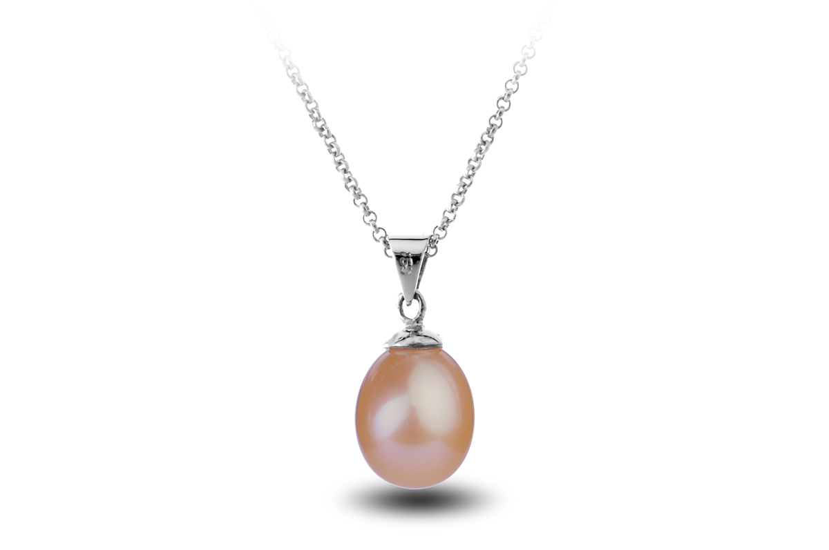 Peach Freshwater Freedom Pearl Pendant 9.00 - 9.50mm