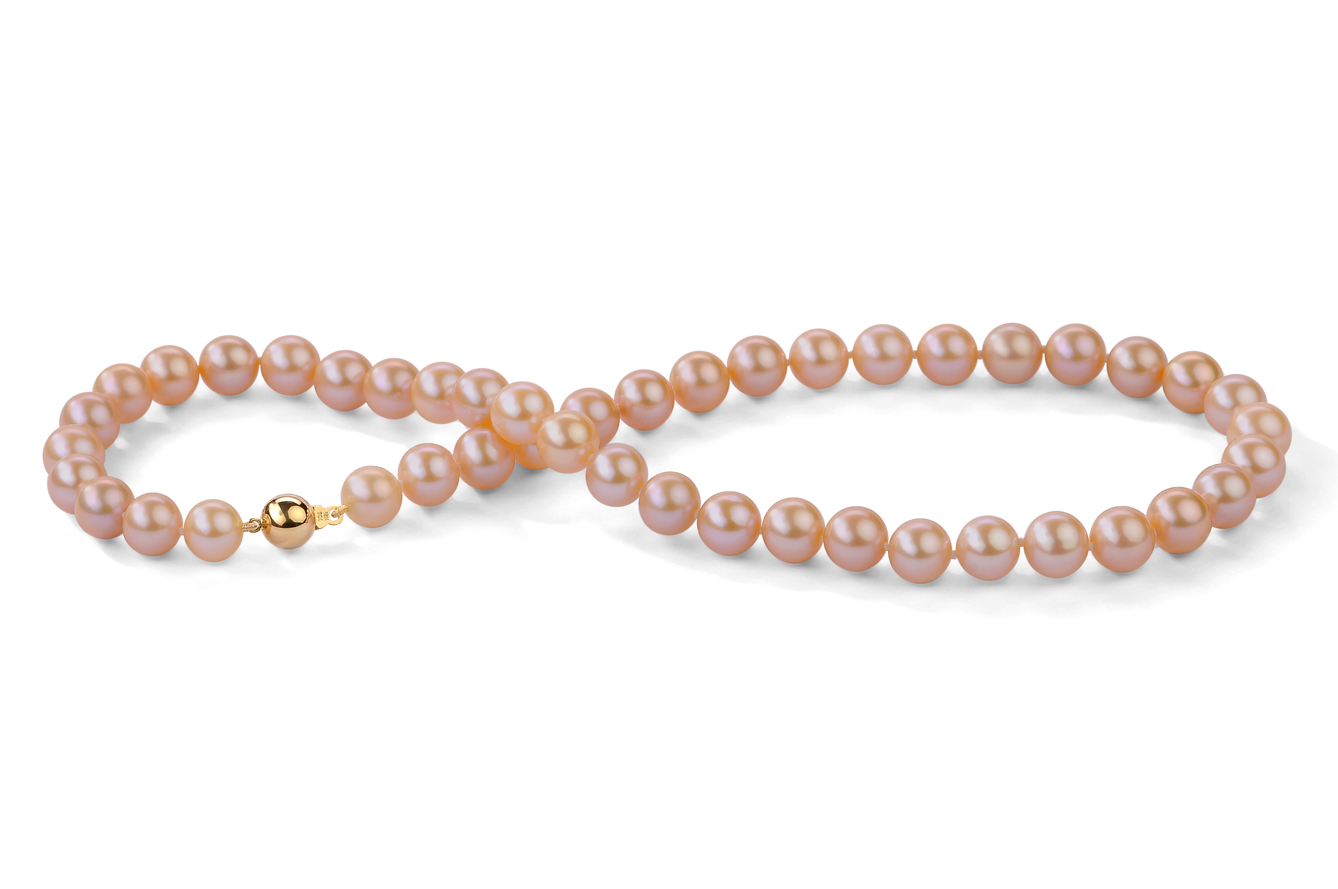 Peach Freshwater Pearl Necklace