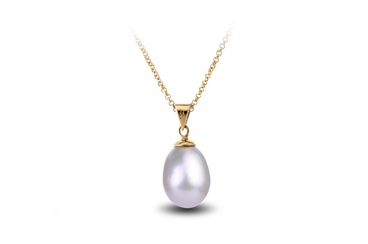White Freshwater Freedom Pearl Pendant 9.00 - 9.50mm