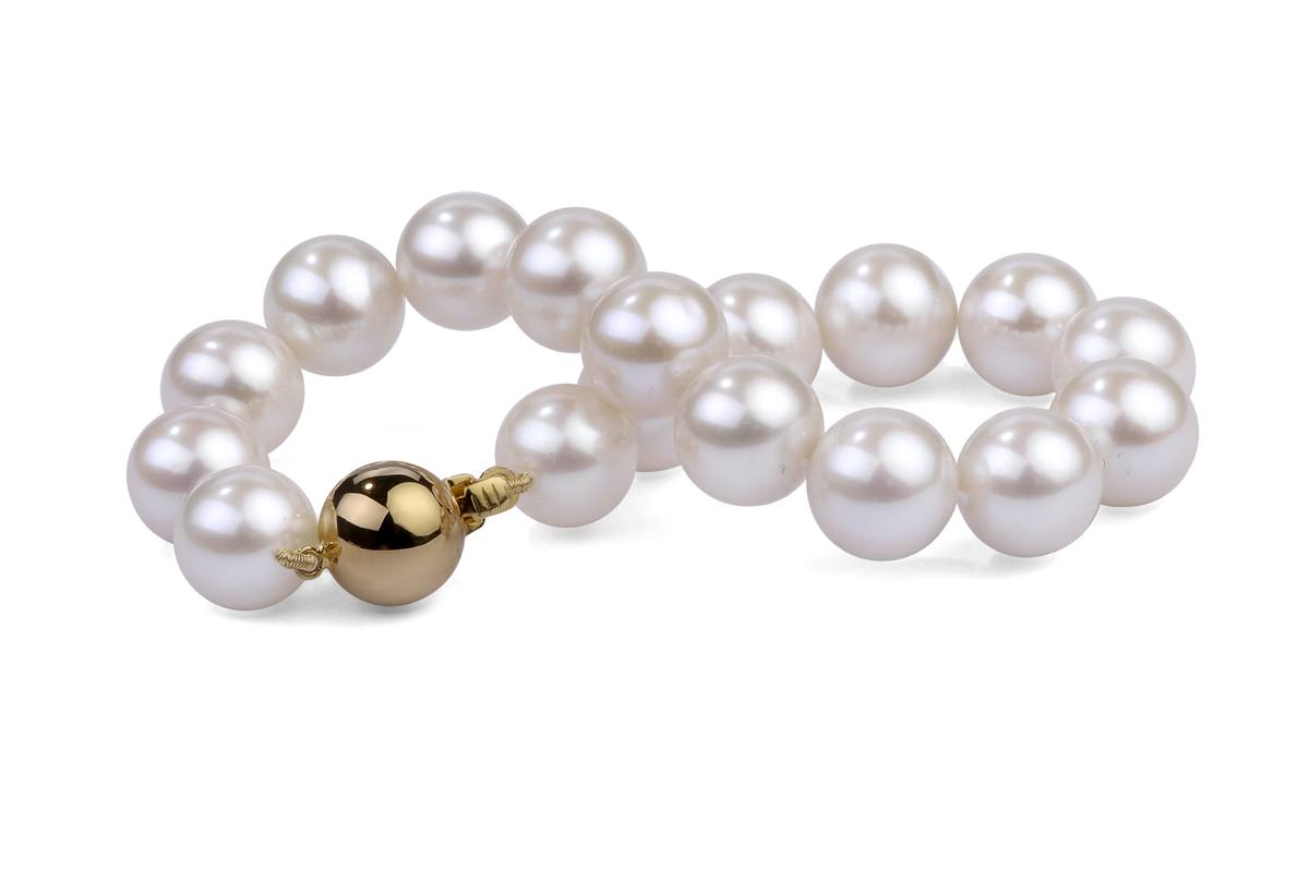 White freshwater pearl bracelet for White pearl