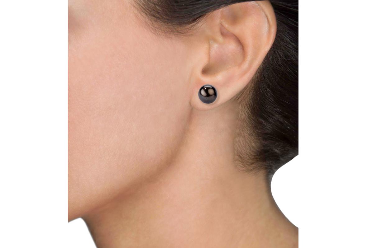 Black Freshwater Pearl Earrings