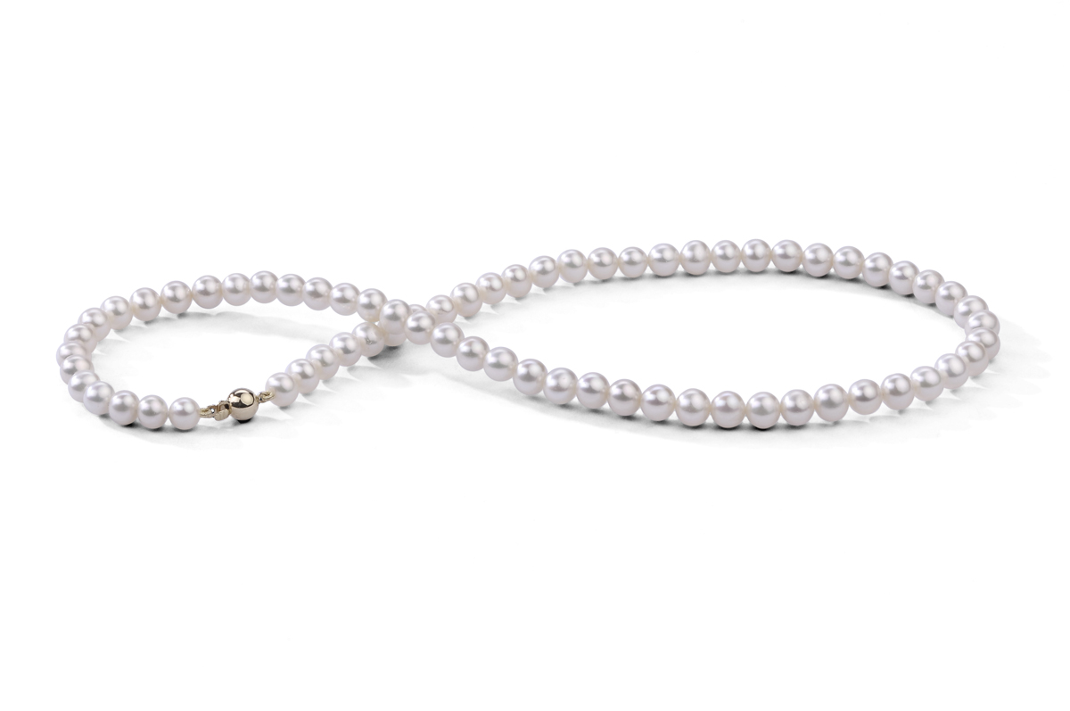 White Freshwater Pearl Necklace 6.00 - 6.50mm