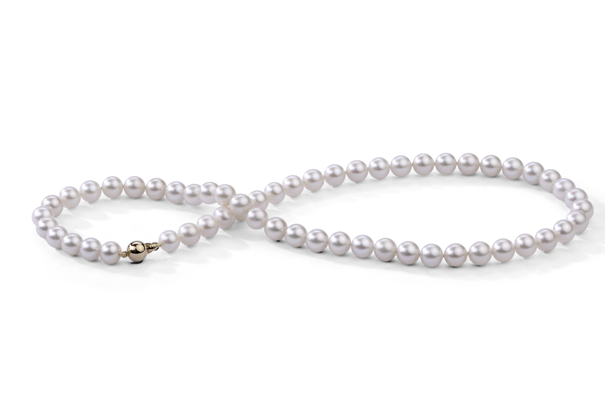 Pearl Jewellery Necklace >> White Freshwater Pearl Necklace 7.00 - 7.50 mm