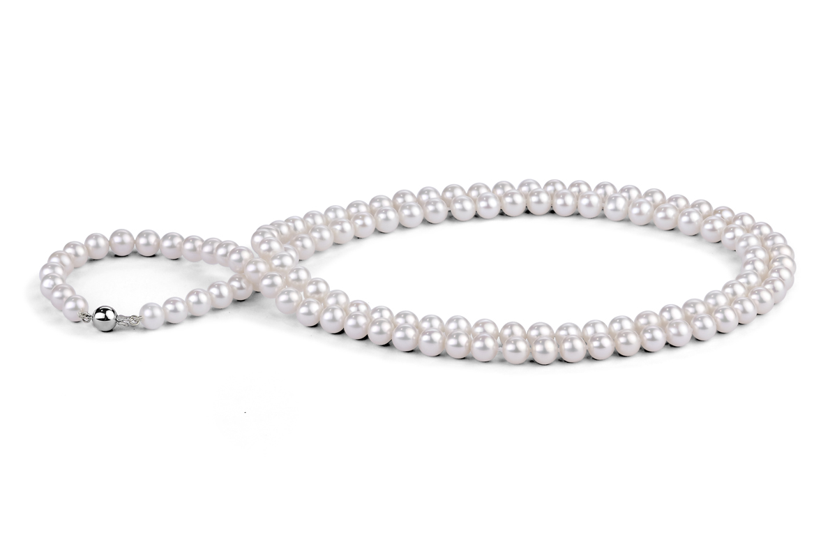 White Freshwater Pearl Necklace 33 inch 8.00 - 8.50mm