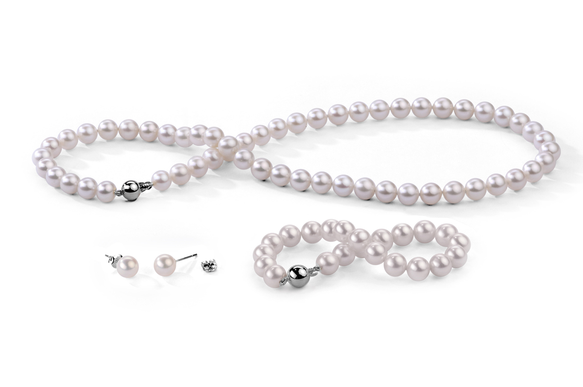 White Freshwater Classic Pearl Set 7.00 - 7.50mm