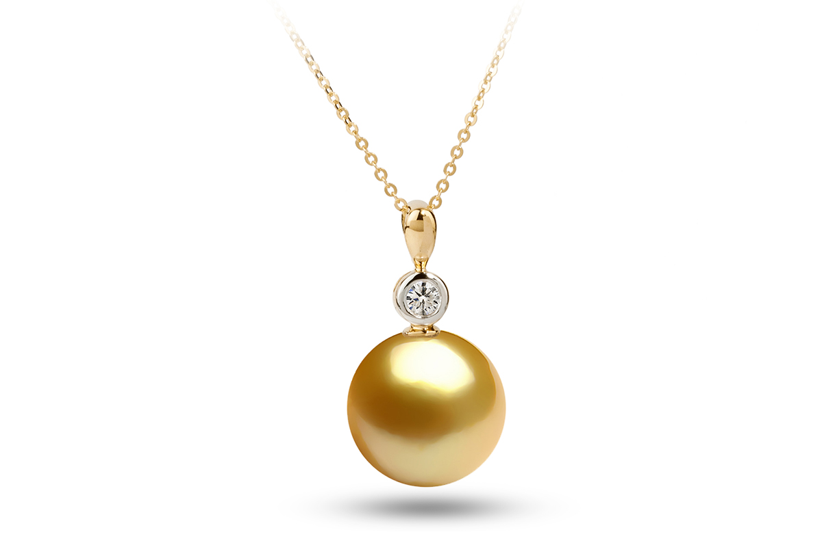 Golden south sea diana pearl pendant 1100 1150mm aloadofball Gallery