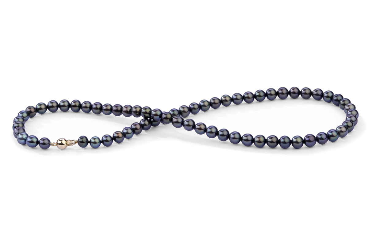 Black Freshwater Pearl Necklace 6.00 - 6.50mm