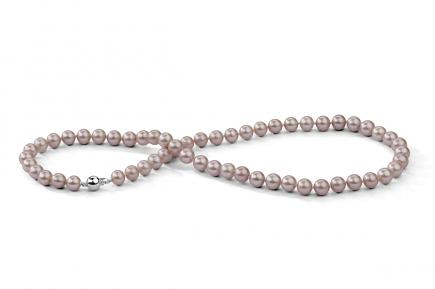 Lavender Freshwater Pearl Necklace 7.00 - 7.50mm