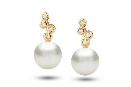 White Freshwater YG Nazneen Pearl Earrings 7.00 - 7.50mm