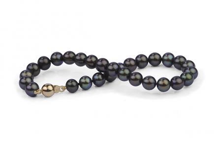 Black Freshwater Pearl Bracelet 6.00 - 6.50mm