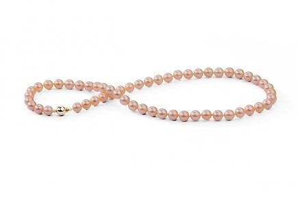Peach Freshwater Pearl Necklace 6.00 - 6.50mm