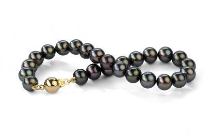 Black Freshwater Pearl Bracelet 8.00 - 8.50mm