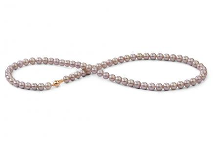 Lavender Freshwater Pearl Necklace 6.00 - 6.50mm