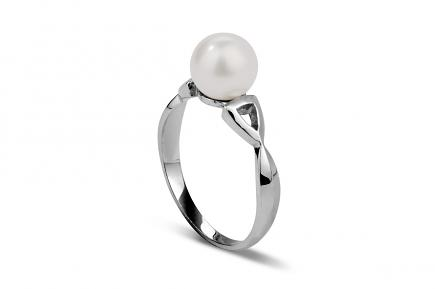 White Freshwater Pearl Ring 7.00 - 7.50mm