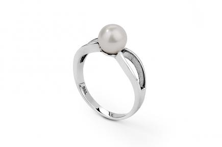 White Akoya Pearl Ring 6.50 - 7.00mm