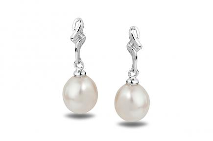 White Freshwater WG Estrid Pearl Earrings 8.00 - 8.50mm