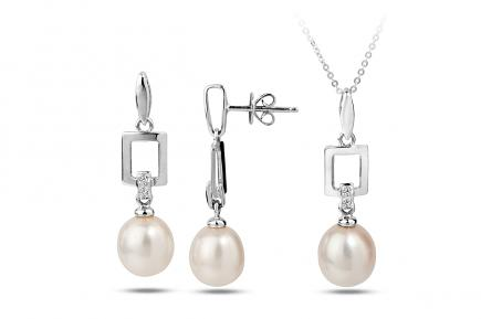 White Freshwater WG Candia Pearl Set 7.00 - 8.00mm