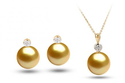Golden South Sea Diana Pearl Set 11.00-11.50mm