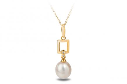 White Freshwater YG Candia Pearl Pendant 7.50 - 8.00mm