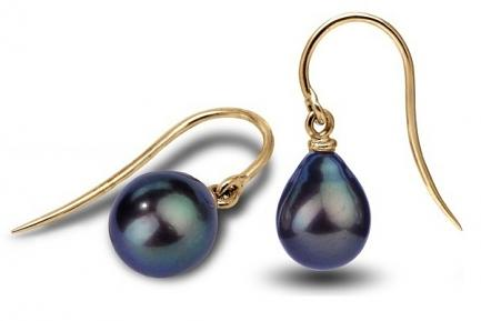 Black Freshwater Freedom Pearl Earrings 9.00-9.50mm