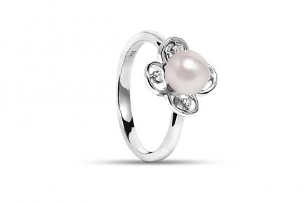 White Freshwater Flora Pearl Ring 6.00 - 6.50mm