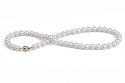 White Akoya Pearl Necklace 8.00 - 8.50mm