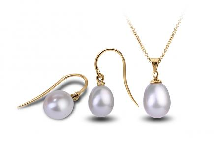 White Freshwater Freedom Pearl Set 9.00 - 9.50mm