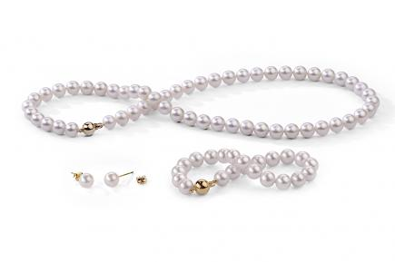White Freshwater Classic Pearl Set 6.00 - 6.50mm