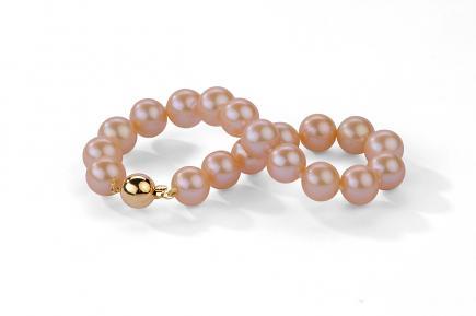 Peach Freshwater Pearl Bracelet 9.00 - 9.50mm