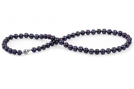 Black Freshwater Pearl Necklace 8.00 - 8.50mm