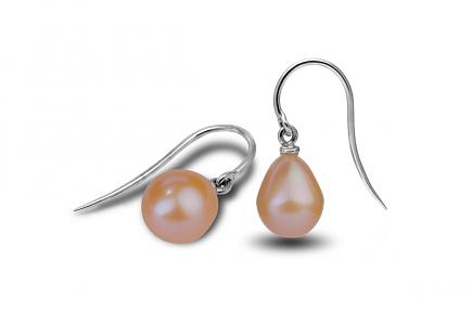 Peach Freshwater Freedom Pearl Earrings 9.00 - 9.50mm