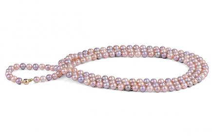Multi-coloured Freshwater Pearl Necklace 50 inch 8.00 - 8.50mm