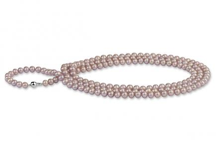 Lavender Freshwater Pearl Necklace 50 inch 8.00 - 8.50mm